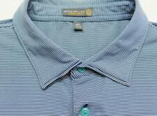PETER MILLAR SUMMER COMFORT Stripe Short Sleeve Polo Shirt XXL