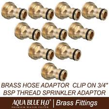 10X Brass Hose Adaptor Clip on 3/4″ Bsp Thread Sprinkler Adaptor
