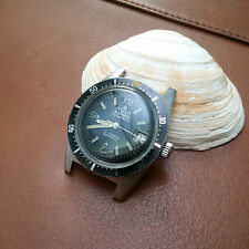Vintage Avia Marino Diver Watch w/Tropical Dark Chocolate Brown Dial,Faded Bezel