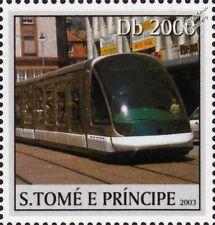 STRASBOURG TRAM / Tramway EUROTRAM Street Car / Light Rail Train Stamp (2003)