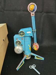 Coney Island Space Amusement Park Ride Tin Litho Wind up Toy w/ Box MS 446