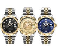 TEVISE Luxury Waterproof Wristwatch Semi-automatic Mechanical Men Business Watch