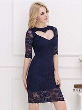 Sweet Heart Dark Blue Slim Fashion Dress XL New