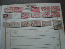 FRANCE - timbres yvert et tellier n° 119 x10 120 x7  obl (br1) stamp french