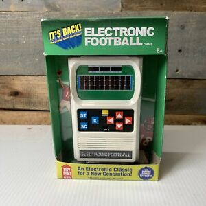 Electronic Football Handheld Game 80's Retro Mattel Classic Sounds Lights New