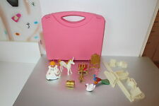 Playmobil  Princess Castle Figure Accessories & Peach Storage Case Lot K7