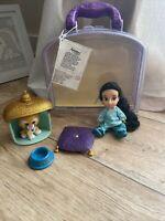 "Disney Store - Jasmine Animator Collection - 5"" mini doll play set - Aladdin"
