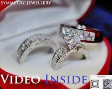 Solitaire with Accents Princess Very Good Fine Diamond Rings