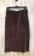 J.Jill Brown Velour Skirt Elastic Waist Medium Petite