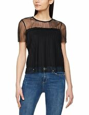 Miss Selfridge Women's Plisse Mesh Shirt Black 6