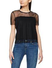 MISS SELFRIDGE Women's Plisse Mesh Shirt  in black uk sz 6 new