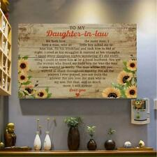 To My Daughter-In-Law I Will Forever Love You Canvas 0.75inch
