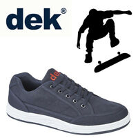 "DEK ""Charlie"" Mens Casual Trainers Navy Blue Textile Shoes Sizes UK 6 to 12"
