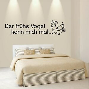 Der Fruhe Vogel Kann Mich Mal In Deko Wandtattoos Wandbilder Gunstig Kaufen Ebay