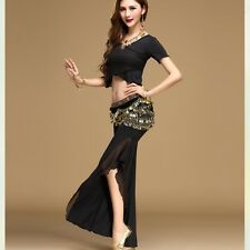 Indian Belly Dancing Practice Clothing Yoga Costumes Set Top & Pants & Belt