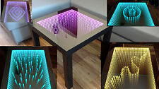 Table LED 3D Table Illuminated Infinity Mirror Square Tiefeffekt +50 Diamonds