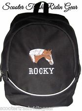 Paint Horse Black Backpack school book bag PERSONALIZED NEW pinto quarter rodeo
