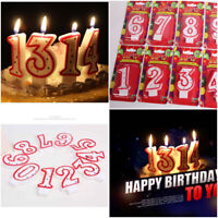 NUMBER CANDLES - Birthday Party Cake All Ages 0 1 2 3 4 5 6 7 8 9 Numeral