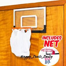 Mini Paper Basketball Hoop w/ Net Home Office Door Bin Wall Waste Bag Basket