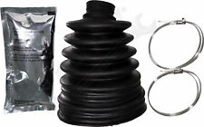 """APDTY 725114 CV Joint Axle Rubber Boot Kit w/ Grease & Clamps (3.44"""" Inner Diam)"""