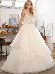 new white/ivory Wedding dress Bridal Gown custom size 4-6-8-10-12-14-16-18+