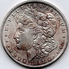1887 Morgan Dollar Uncirculated Philadelphia Liberty Head Dollar 90% Silver Coin