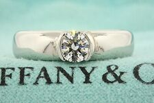 Tiffany & Co. Platinum Etoile Engagement Ring Solitaire .53ct GIA E VS2