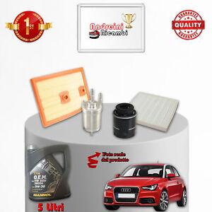 Kit Inspección Filtros + Aceite Audi A1 1.4 TFSI 92KW 125KW 2014- >