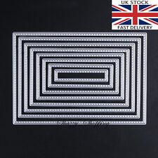 Rectangle stitch nesting die set metal cutting die cutter UK seller Fast Posting