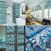Static Cling Window Film Stained Glass Stickers Privacy Decor Wall Sticker Art