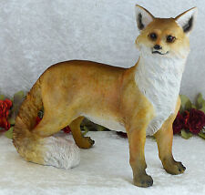 Gartenfigur XL Fuchs Skulptur Figur Tierfigur Hund Deko Statue Waldtiere Wild