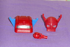 vintage Mego Micronauts MICROTRON PARTS LOT #37 small red wheel & both heads