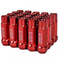 GSP M12X1.5mm Type3-X 55MM Steel Red Wheel Lug Nut Fit IS250 GS300 SC430 ES ISF