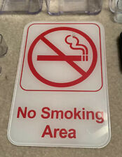 Acrylic Plexiglass Business Sign Holders 4 Desk Office, No Smoking-See Details!