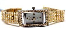 OMAX Women Golden Watch Designer Premium Collection Swarovski Crystal
