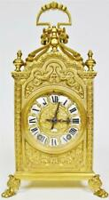 Sublime Antique French 8 Day Bronze Ormolu & Glass Large Lantern Carriage Clock