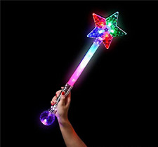 GIFTEXPRESS Magic Ball Star Wand/Light Up Princess LED Wand/Princess Magic Wand/