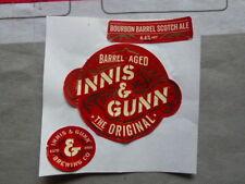 """INNIS & GUNN """" THE ORIGINAL """"  BEER BOTTLE LABEL"""