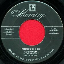 "STEVE GIBSON ""Blueberry Hill/I Love You"" Mercury 45 8146 Doo Wop VG"