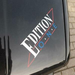 Schriftzug • Emblem • Aufkleber • Edition One • Sticker