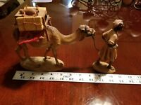 ANRI KUOLT NATIVITY SCENE CAMEL AND DRIVER 6 INCH WITH REMOVABLE SADDLE