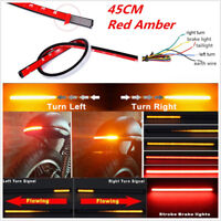 Flexible 45cm Car Sequential LED Flowing Light Strip Headlight DRL Yellow Red