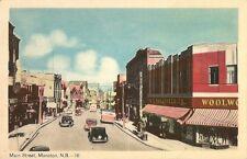 Postcard New Brunswick Moncton Main Street ca1920s-30s Unused NrMINT PECO