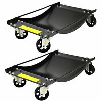 PAIR Wheel Dollies Skate Car Van Positioning Trolley 450kg Recovery Jack TE429