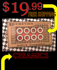Ceramic Skateboard Bearings = Complete Set of 8=FASTER THAN REDS & SWISS BONES !