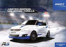 2013 SUZUKI SWIFT BROCHURE PROSPEKT CATALOG INDIA.