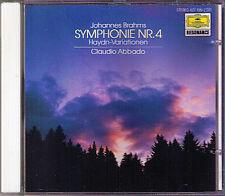 Claudio ABBADO BRAHMS Symphony No.4 Haydn Variation CD Staatskapelle Dresden LSO