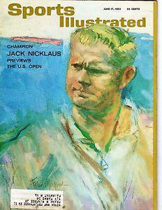 1963 6/17 Sports Illustrated Magazine golf Jack Nicklaus U.S. Open, Brookline VG