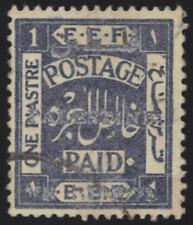 Palästina 1921 1pi E. E. f.mit Silber Ovpt Abdecken Alle