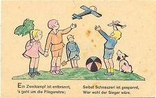 Kinder mit Spielzeug Flugzeugen, Ball u. Hund, Werbe-AK Bleyle Mädchenkleidung